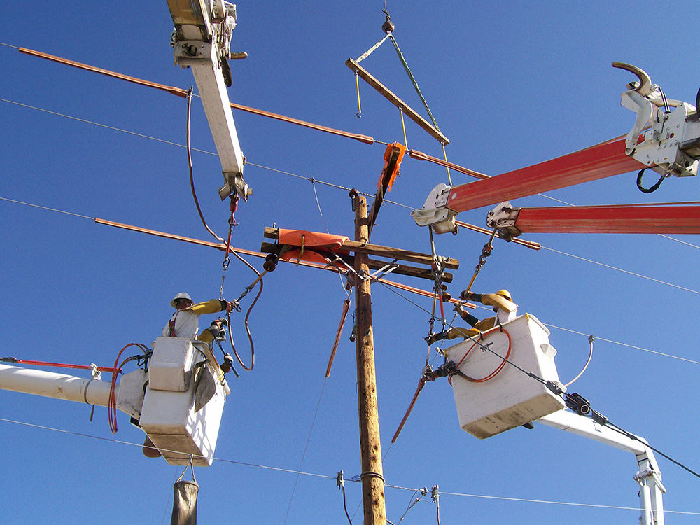 Powerline projects by Anderson and Wood Construction